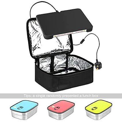 Yiboss Nini - Bolsa térmica con pequeño calentador eléctrico para la comida, horno portátil,