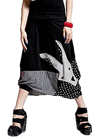Uget® Baggy Harem Hippie Pants Trouser Black - One Size