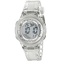 Armitron Sport - Reloj digital con correa de jalea transparente 45 /7051CLR para mujer
