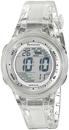 Armitron Sport Women's 45/7051CLR Digital Clear Jelly Strap Watch