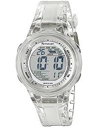 Women's 45/7051CLR Digital Clear Jelly Strap Watch