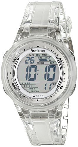 (Armitron Sport Women's 45/7051CLR Digital Clear Jelly Strap Watch)