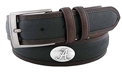 ZeppelinProducts UAL-BBLPS-BLK-38 Alabama Concho Two Tone Leather Belt, 38 Waist from ZEP-PRO
