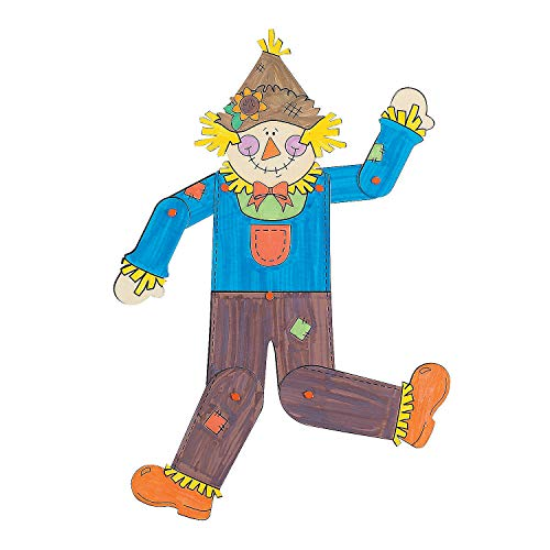 - Fun Express - Cyo Jointed Scarecrow Decoration Craft for Fall - Craft Kits - CYO - Paper - Misc CYO - Paper - Fall - 12 Pieces