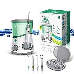 Pursonic OI-200 Professional Counter Top Oral Irrigator Water Flosser with 3 Nozzles Plus a Bonus Tongue Scraper
