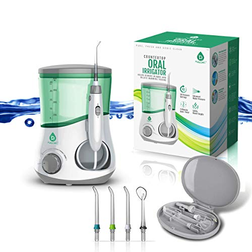 Cheap Pursonic OI-200 Professional Counter Top Oral Irrigator Water Flosser with 3 Nozzles Plus a Bonus Tongue Scraper pursonic oral irrigator