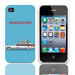 TY- Ghost Busters patrón duro caso con paquete de 3 protectores de pantalla para iPhone 4/4S