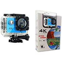 ACTION 4K 30fps WIFI Sports Action Camera Ultra HD Waterproof DV Camcorder 16MP 170 Degree Wide Angle 2 inch LCD Screen (Blue)