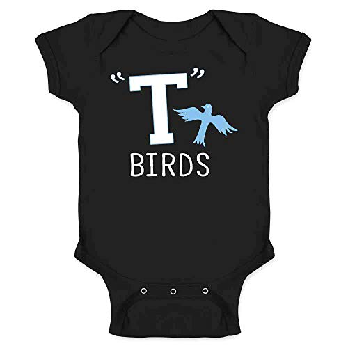T Birds Gang Logo Costume Retro 50s 60s Black 6M Infant Bodysuit -