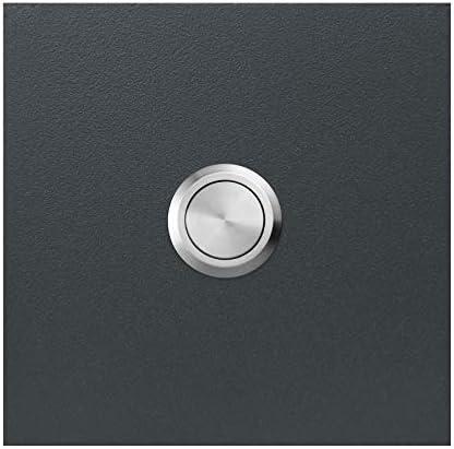 100 x 80 mm Plaque de sonnette avec pince en acier inoxydable polar-effekt Sonnette de porte personnalisable en ardoise Motif : c/œurs Plaque de sonnette blanche