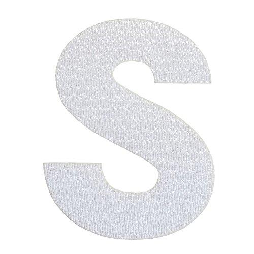 アルファベットワッペン 3cm ホワイト S(エス)の商品画像