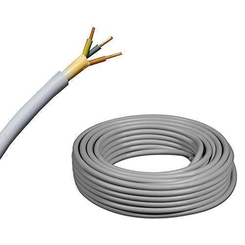 /PVC/ /plastique Installation C/âble/ De C/âble dinstallation NYM-J 3/x 2,5/mm/²/ /Gris /5/m//5/m//5/m/ètres/