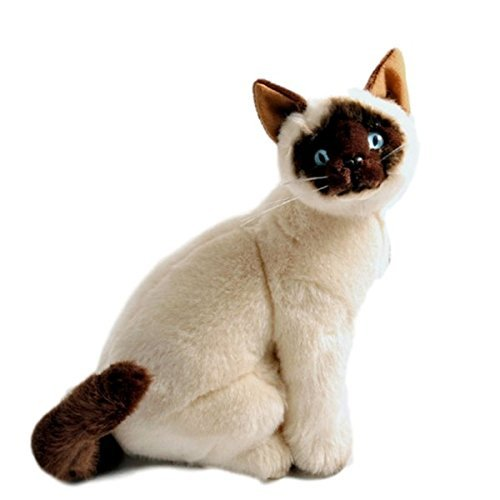 Bocchetta Plush Toys Siamese Cat Kitten Sitting Soft Plush T