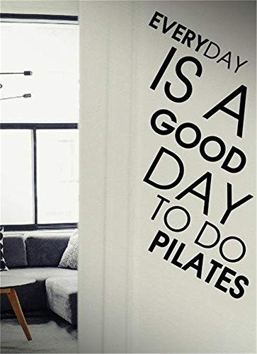 Kenden Removable Vinyl Decal Art Mural Home Decor Wall Stickers Everyday is A Good Day to Do Pilates for Living Room ()