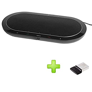 Image of Jabra Speak 810 USB Bundle with USB Dongle | Conference Room Speakerphone | Bluetooth, NFC, 3.5mm | UC Compatible, Softphones, Smartphones, Tablet, PC, MAC | Microsoft Certified Version Bluetooth Network Adapters