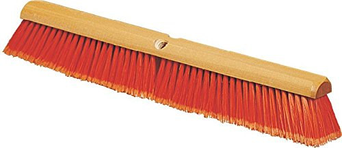 Carlisle 4501424 Flo-Pac Flagged Fine Floor Sweep, Polypropylene Bristles, 24'' Block Size, 3'' Bristle Trim, Orange (Case of 12) by Carlisle