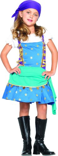 [Gypsy Princess Halloween Costume - Child Size X-Small 3-4] (Gypsy Costume Head Scarf)