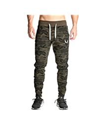 Men's Slim Fit Tapered Running Fitness Active Harem Camo Pants