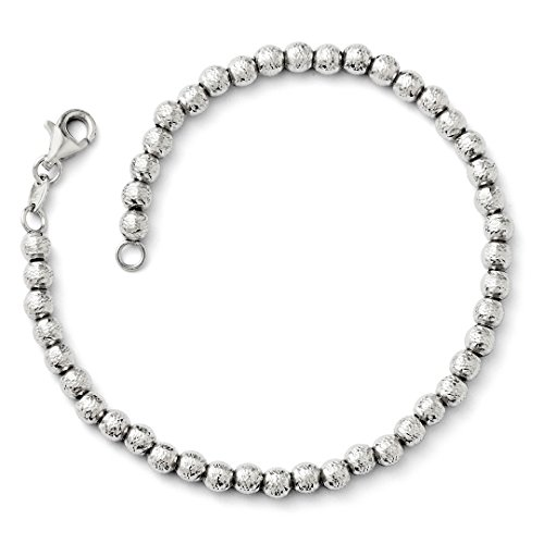 Beaded Heart 14k (ICE CARATS 14kt White Gold Beaded Bracelet 7.25 Inch Bead Beadsed Fine Jewelry Ideal Gifts For Women Gift Set From Heart)