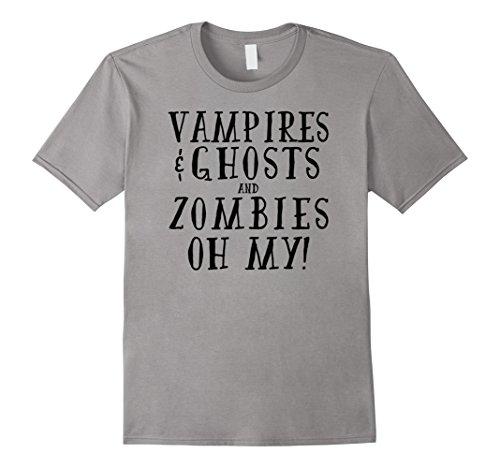 Mens Vampire Ghost Zombie Funny Horror Halloween T-Shirt Medium (Creepiest Halloween Movies)