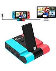 Foscomax Switch Dock for Nintendo Switch, TV Dock Station Replacement Foldable Docking Station Portable Switch Dock Type C Charging Dock with 4K HDMI TV Adapter, USB 3.0 Port