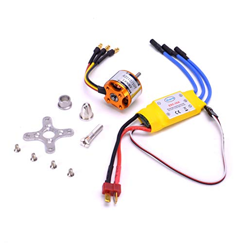 - FPVDrone RC A2212 1400KV Brushless Motor+30A ESC Electric Speed Controller for RC Plane Quadcopter Helicopter Aircraft