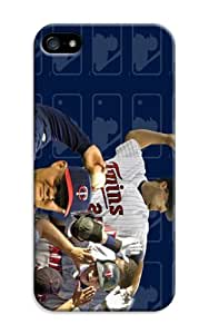 LarryToliver iphone 5/5s Case Slim KickStand Style, Extra Thin, Customizable Baseball Minnesota Twins Cases Stand
