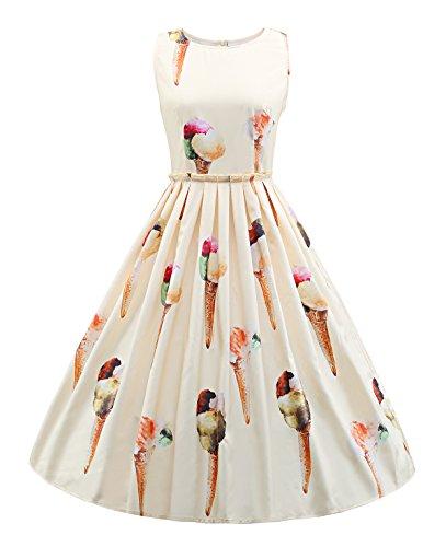 Abendkleider Damen Festliches Elegant 50er Jahre Kleid Vintage