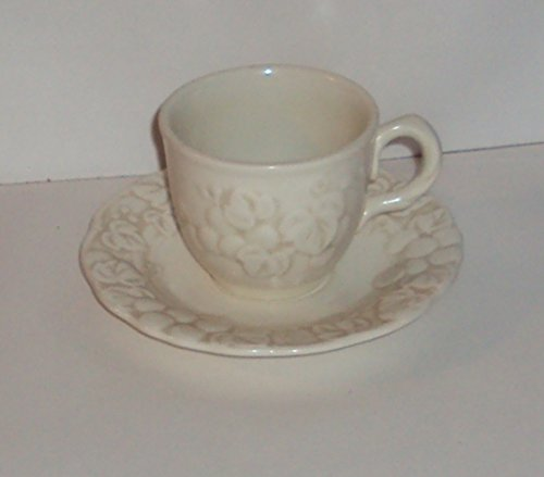 Set of 2 Vernon Metlox Poppytrail Antique Grape Coffee Cups and Saucers