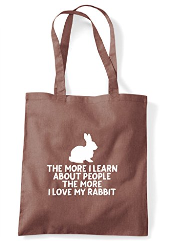 Chestnut Lover People Person Love Learn I Pets More My Animal Shopper Tote About Funny Rabbit The Bag qafBwS