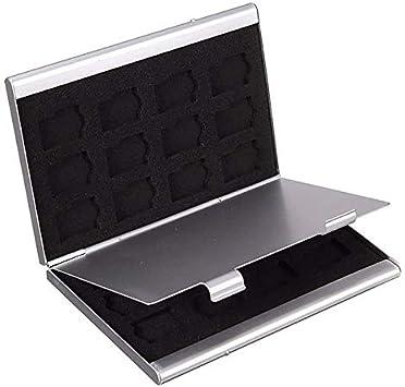 Portatarjetas de identificación Metal Tarjeta de Memoria MMC Caja de Almacenamiento de Aluminio Cámara 6SD 24TF MMC TF Estuche para Tarjeta de Memoria: Amazon.es: Electrónica