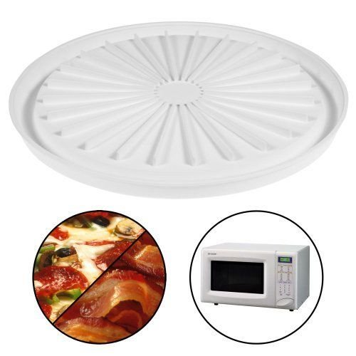 Bacon Microwave Dish (Microwave Pizza Plate Cook Bacon Sausage Meat Dishwasher Safe Round Pan Tray New)
