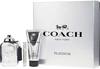 Coach Platinum Eau de Perfume Spray 3 Piece Gift Set for Men, Pack of 3