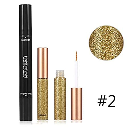 Eyeliner Handaiyan Glitter Eyeliner Set Liquid Eyes Liner With Cat Eye Seal Eyeliner Stamp Waterproof Makeup Maquiagem Shiny Cosmetics Back To Search Resultsbeauty & Health