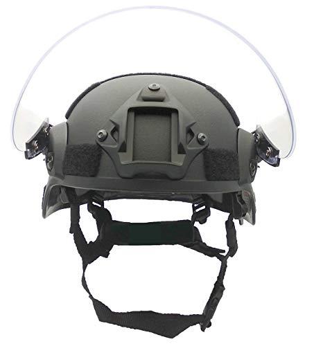 Airsoft MICH 2000 ACH Casque tactique avec visière transparente et rail latéral 3
