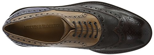 Melvin&Hamilton Trevor 1 - Zapatos Hombre Marrón - Braun (Classic Dk.Brown, Tortora Cobalt/Kudu WAX Wine/Crip White)