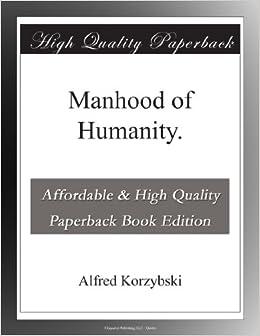 Book Manhood of Humanity.