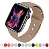 VATI Sport Band Compatible with Apple Watch Band 38MM 40MM 42MM 44MM, Soft Silicone Sport Bands Replacement Strap Compatible with iWatch Apple Watch Series 4, Series 3, Series 2, Series 1 S/M M/L