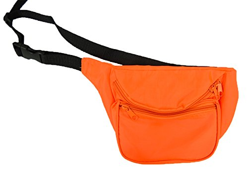 BAM Products Fanny Waist Packs Blank Neon (Blank Neon Orange) by Bam Products