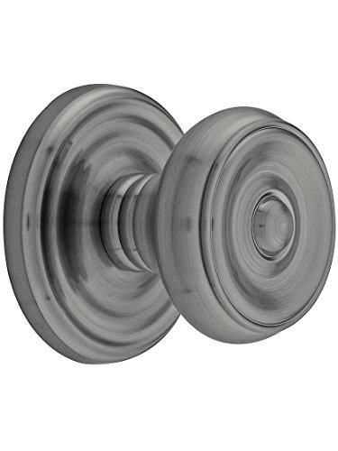 Classic Rosette Set With Waverly Knobs Privacy In Antique Pewter. Doorsets. ()