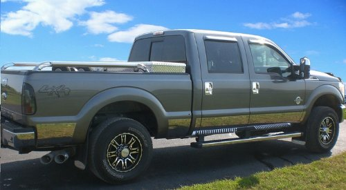 Cab Short Bed Rocker Panel (Made In USA! 2011-2016 F250 SuperDuty Crew Cab Short Bed Rocker Panel Trim 10.5