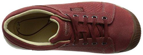 Red cordones Piel RED DAHLIA Zapatos Rojo de Dahlia de mujer Keen para Rojo EwqZSPIPx