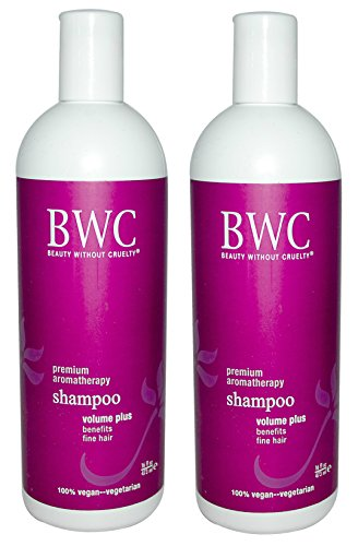 Beauty Without Cruelty Volume Plus Shampoo (Pack of 2) with Aloe Vera Gel, Soy Protein, and Sage Extract, 16 (Soy Protein Shampoo)