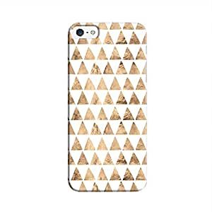 Cover It Up - Brown White Triangle Tile iPhone 5/5s Hard Case