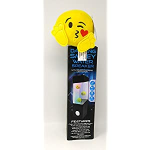 Emoji Dancing Color Changing Light Show Water Speaker USB Power Fountain Show Portable Speaker with 3.5 mm Audio Jack Display iPhone iPad Laptops Smartphone & Plush EMOJI
