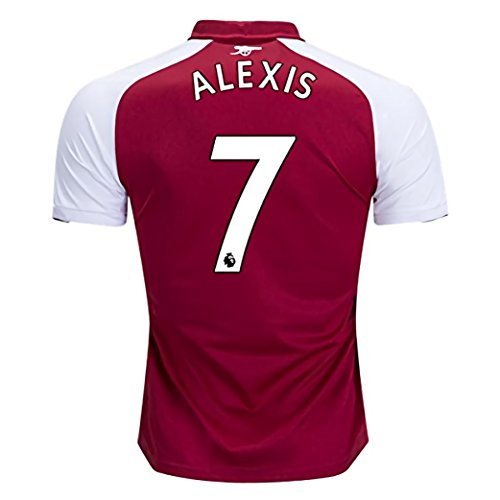 Arsenal Youth Home Jersey (Alexis 7 Arsenal Home 17-18 Soccer Mens Jersey Color Red Size M)