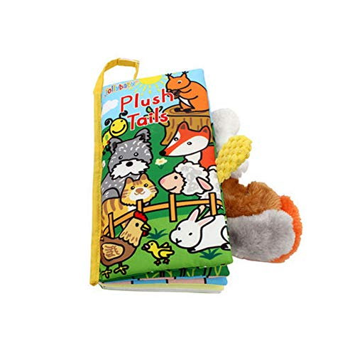 LO HOME Soft Cloth Books - Non-Toxic Fabric Baby Books Early Education Toys Activity Crinkle Animals Cloth Book for Toddler, Infants and Kids - Perfect