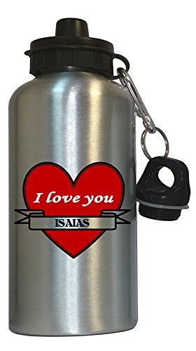 i-love-you-isaias-water-bottle-silver-1007