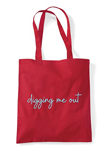 Statement Red Hashtag Quote Tote Me Shopper Out Bag Digging RFxOHwaEq