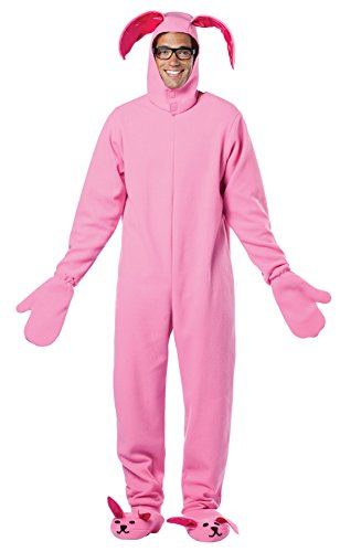 UHC Men's Christmas Story Bunny Suit Pink Theme Party Fancy Costume, Standard (42-48) -